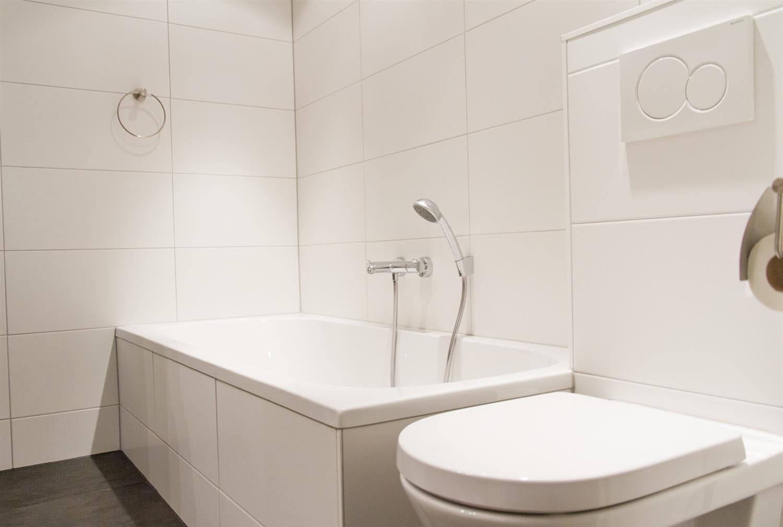 Opgeschort toilet met micro liftzitting overzicht van de